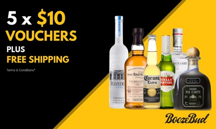 5 x $10 Credit Vouchers + Free Shipping Min Spend $49 per Voucher valid separate orders