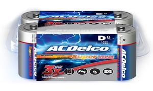 ACDelco Super Alkaline D Batteries (8-Pack)