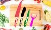 Lot de 3 couteaux et 1 épluche-légumes Silvano