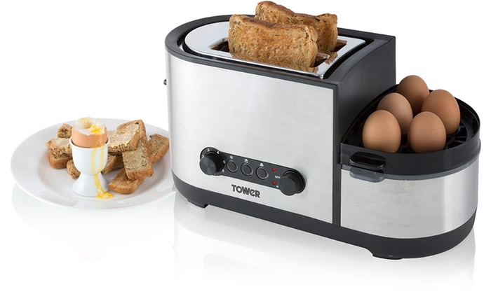 Tower Toaster With Egg Cooker Groupon Goods