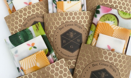 Reusable Beeswax Food Cover Wraps: Three-Piece ($15) or Four-Piece ($19) Set