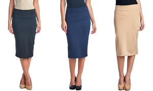 Solid Midi Pencil Skirts (3-Pack)