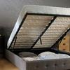 Alia Fabric Lift-Up Storage Bed