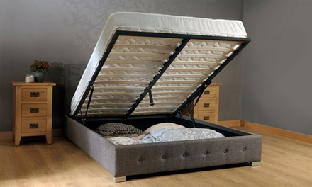 Alia Fabric Lift Up Storage Bed Frame (from AED 949) with Optional Mattress (from AED 1389)