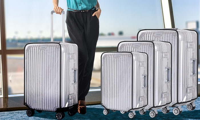 One, Two or Three PVC Suitcase Cover Protectors