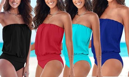 1 ou 2 maillots 1 pièce bustier couvrants de la marque Fantastic, coloris et tailles au choix