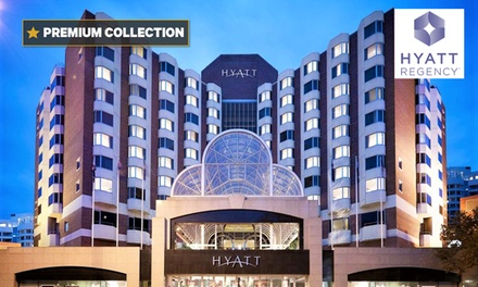 Perth: One or Two Nights for Two People with Breakfast, Wine, Late Check-Out and Self-Parking at 5* Hyatt Regency Perth