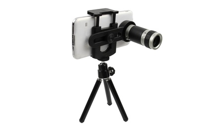 Telescope Camera Lens for Smartphones with Stand: One $19.95 or Two $29.95