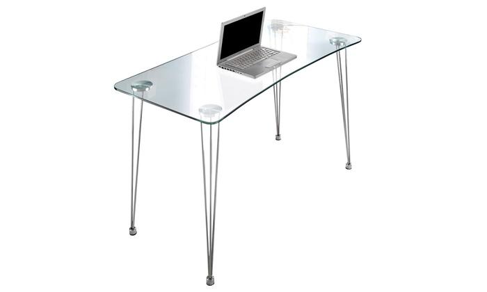 Tavolino per pc con piano in vetro groupon - Tavolino per pc ...