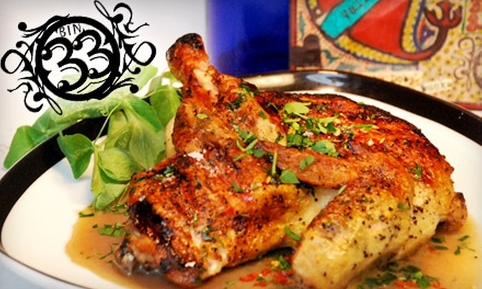 Bin 33 - Downtown: $20 for $45 Worth of Eclectic American Fare at Bin 33