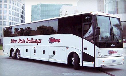 One-Way Charter Bus Trip to or from Las Vegas (Must Buy 2 for Round-Trip) - Silver State Trailways in Santa Ana
