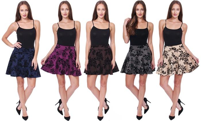 Women's Floral Skater Skirt