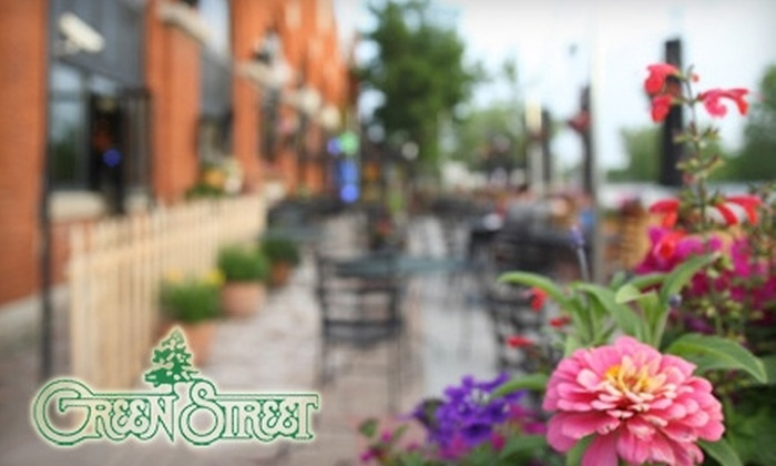 Green Street - Central City: $7 for $15 Worth of Dinner Bar Fare or $5 for $10 Worth of Lunch at Green Street