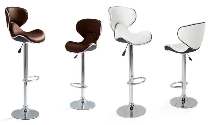d stockage lot 2 tabourets wave groupon shopping. Black Bedroom Furniture Sets. Home Design Ideas