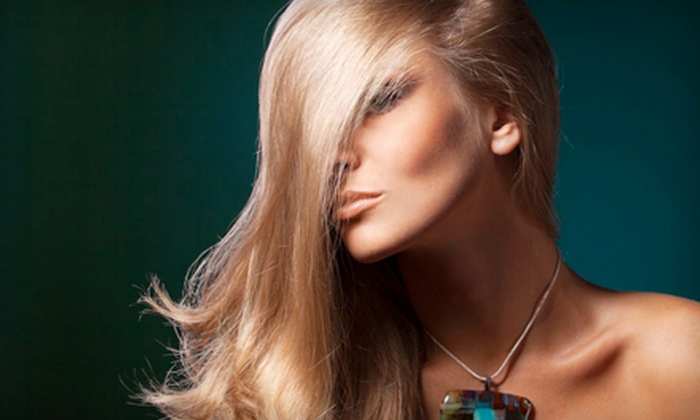 Silhouettes Salon - Ventura: Haircut Package with Simple Gloss Treatment or Full Color at Silhouettes Salon (Up to 51% Off)