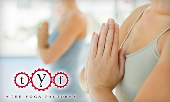 The Yoga Factory and Fitness Center - Westerville: $20 for Five Yoga Classes at The Yoga Factory and Fitness Center in Westerville ($55 Value)