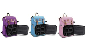 GOgroove Camera Backpack with Bags and Cases