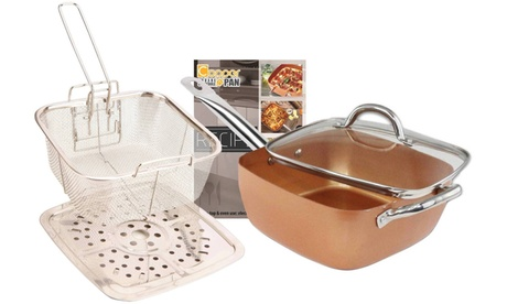 "Square Copper Cooking Pan 9.5"" (5-Piece)"