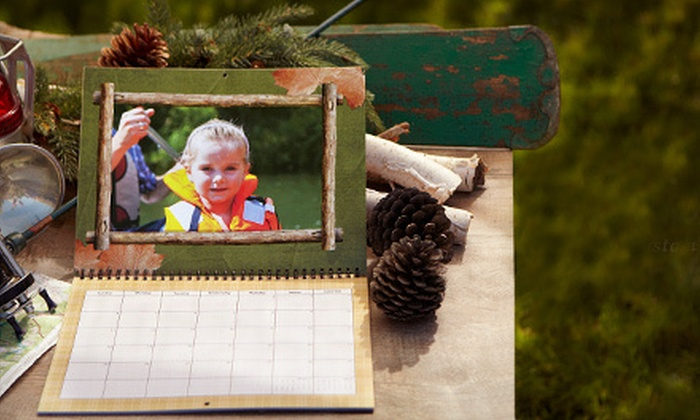 "Mixbook: 11""x8.5"", 12""x12"", or 14""x11"" Custom Wall Calendar, or $15 for $50 Worth of Cards and Photo Books from Mixbook"