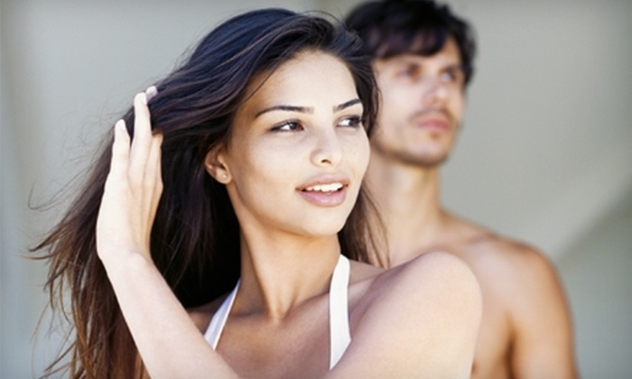 New Styles Salon & Tanning - North Jackson: $12 for Haircut and Style at New Styles Salon & Tanning ($25 Value)