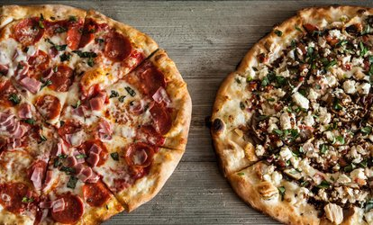 43% Off Two Large Specialty <strong>Pizzas</strong> at Tony Sacco's Coal Oven <strong>Pizza</strong>