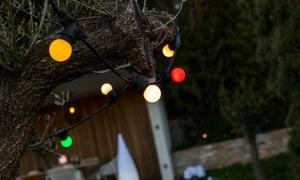 Guirlande LED solaire multicolore
