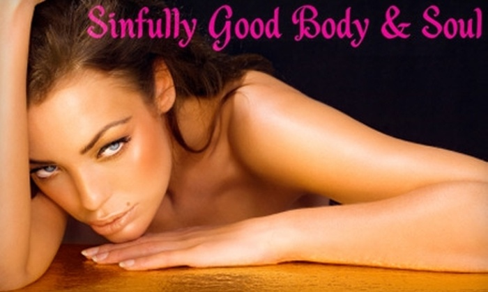 Sinfully Good Body and Soul - Cuyahoga Falls: $12 for One Airbrush Tan or $17 for One Month of Unlimited Tanning at Sinfully Good Body and Soul in Stow