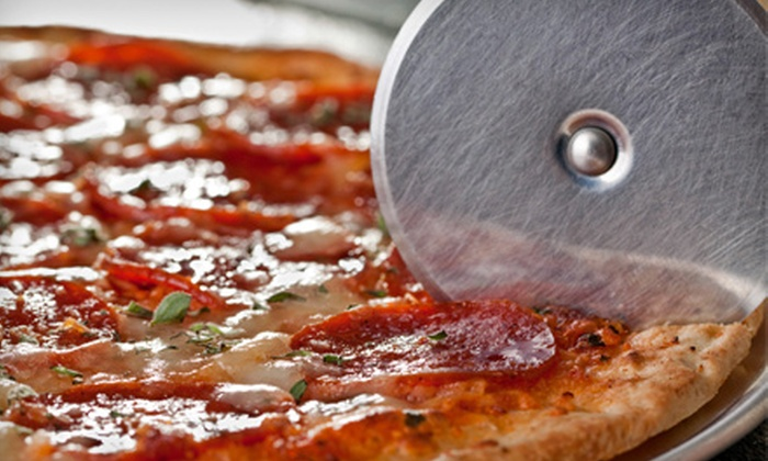 La Piazza Pizzeria  - Windsor Terrace: $9 for Five Pizza Slices and Drinks Punch Card (Up to $27.50 Value) or $20 for Whole Pizza and Soda (Up to $47 Value) at La Piazza Pizzeria in Brooklyn