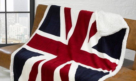 Union Jack or Stars and Stripes Sherpa Fleece Throws