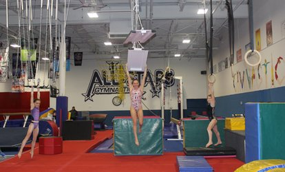 Three Hours of <strong>Gymnastics</strong> or Ninja Warrior Open Gym for One or Two at All-Stars <strong>Gymnastics</strong>