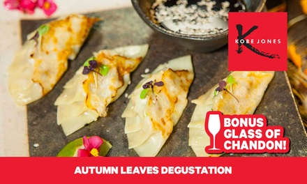 Kobe Jones Autumn Leaves Degustation: 1 Person ($69) + Champagne Upgrade ($84); 4 Ppl ($272) + Champagne ($329)