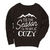 Women's Cabin-Themed Slouchy Pullovers (Size XL)