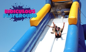 Ridiculous Playground: Ridiculous Playground - $40 for 2 Hours of Unlimited turns on each inflatable! 8 October, Victoria Park Racecourse