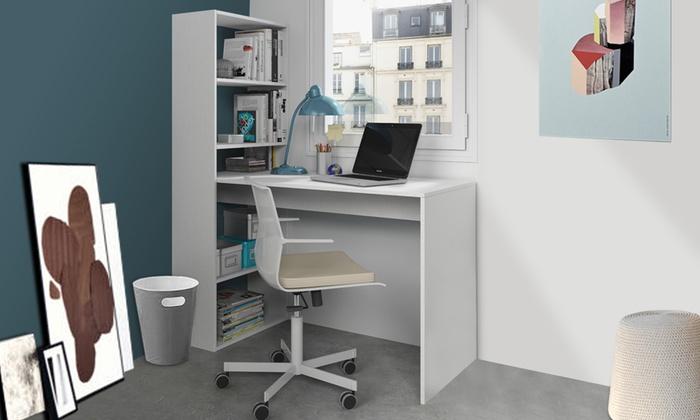 Scrivania e libreria nadia groupon for Scaffali per ufficio ikea