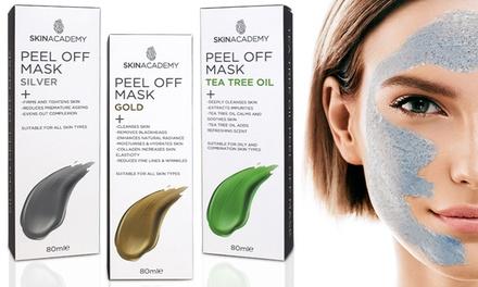 One or Three Skin Academy Silver, Gold or Tea Tree Oil PeelOff Masks