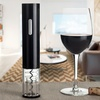 Stemless Crystal Wineglass Set (4-Pc) with Electric Wine-Bottle Opener