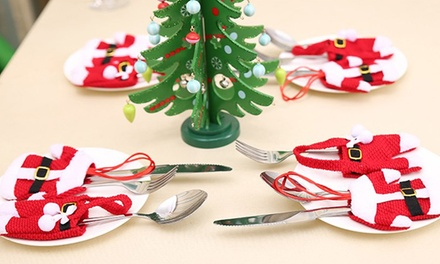 Christmas Santa Claus Cutlery Holder Socks: Six ($9.95), 12 ($12) or 18 ($18)