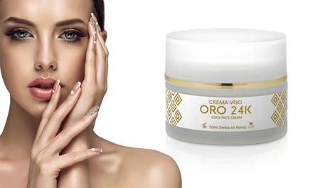 1 ou 2 crèmes visage anti-âge à l'or 24 carats, acide hyaluronique et collagène