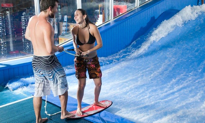 Aqua Shop Indoor Surfing - Plano: $20 for Two 30-Minute Indoor Surf Wave Machine Sessions at AquaShop ($40 Value)