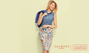$20 Off Every $100 Purchase at Talbots Outlet Stores at Talbots Outlet, plus 6.0% Cash Back from Ebates.