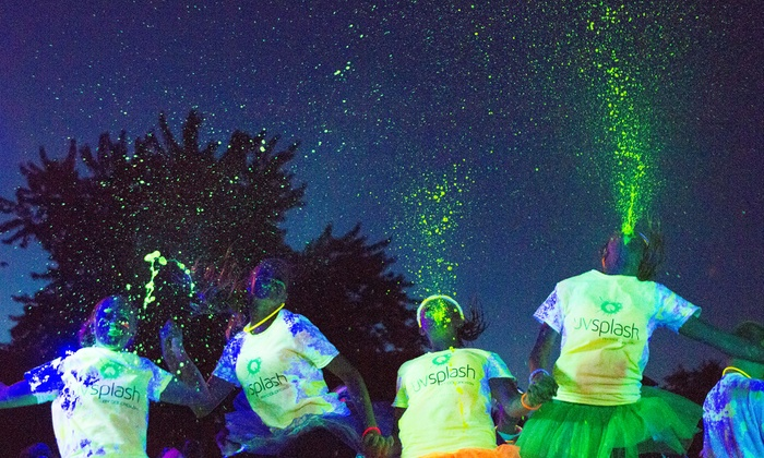 UV Color Splash - ASCARATE PARK: Entry for One, Two, or Four at UV Splash Color Dash 5K on Saturday, October 4 (Up to 45% Off)