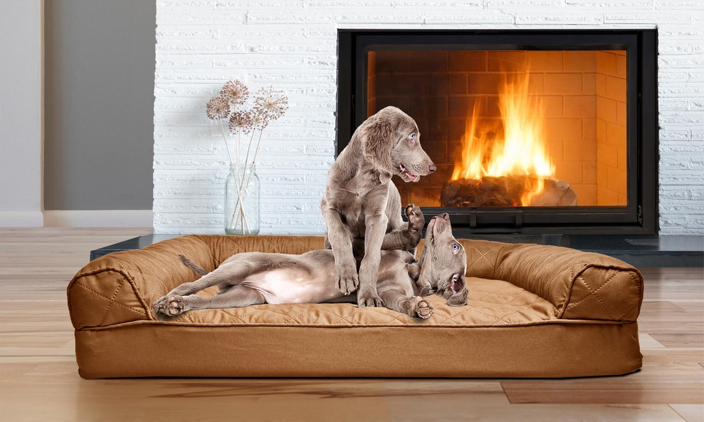 Save 83% on Sofa-Style Orthopedic Pet Dog Bed Mattress