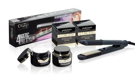 Lisseur 4Matic Pro Styler et crèmes Luxury Gold jour/nuit, Postquam