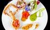 ⏰ Raffinato menu di pesce e vino