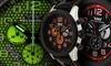 Weil & Harburg Karkin Men's Honeycomb Chronograph Watch