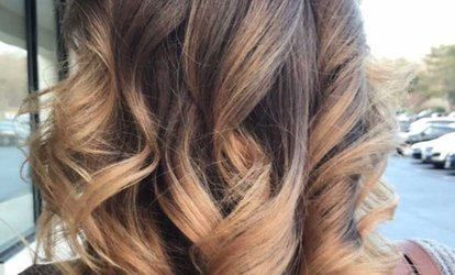 <strong>Haircut</strong> or Partial Highlights with Style at Sunset Salon (Up to 50% Off)
