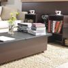 Leatherette Split-Top Coffee Table