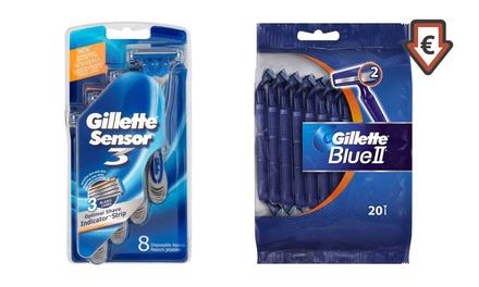 Gillette Einwegrasierer Sensor 3 oder Blue II