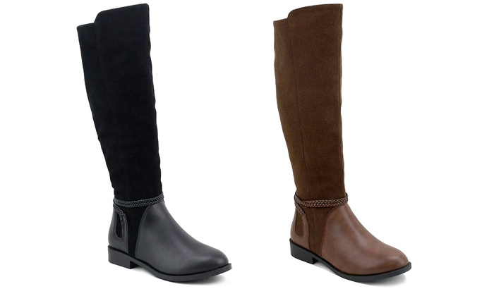 OM Woodside Ankle Braided Riding Boots
