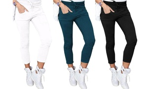 (Mode)  Pantalon femme slim strech  -66% réduction